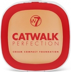 W7 Cosmetics Catwalk Perfection Cream Compact foundation Honey 6gr