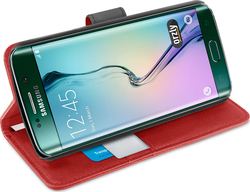 Orzly Multifunctional Wallet Case for Red (Galaxy S6 Edge)
