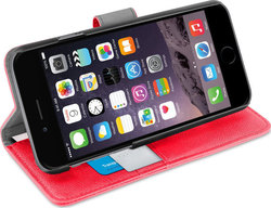 Orzly Multifunctional Wallet Case for Red (iPhone 6/6s Plus)