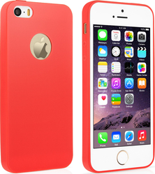 YouSave Accessories Ultra Thin Gel Case Red (iPhone 5/5s/SE)