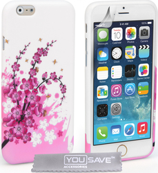 YouSave Accessories Floral Bee Silicone Gel Case (iPhone 6/6s)