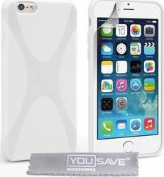 YouSave Accessories Silicone Gel X-Line Case White (iPhone 6/6s)