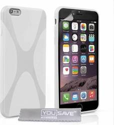 YouSave Accessories Silicone Gel X-Line Case White (iPhone 6/6s Plus)