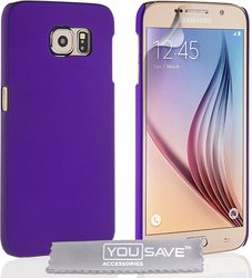 YouSave Accessories Hard Hybrid Case Purple (Galaxy S6)