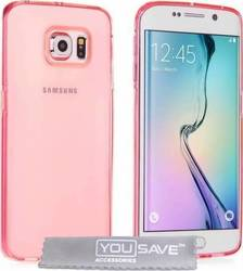 YouSave Accessories Ultra Thin Gel Case Smoke Pink (Galaxy S6 Edge)