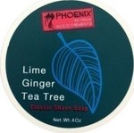 Phoenix Artisan Accoutrements Lime & Ginger & Tea Tree Shaving Soap 114gr