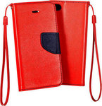 OEM Book Case Pocket Red Navy (Apple iPhone 5/5S/5SE)