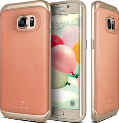 Caseology Envoy Series Leather Pink/Gold Ροζ (Galaxy S7 Edge)