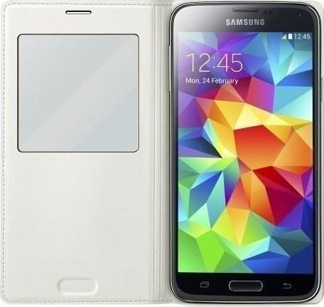 58e8c26cf2 Προσθήκη στα αγαπημένα menu Ultra Slim 0.3mm Book Case Δερμάτινη Smart Cover  Ενσωματωμένο Καπάκι Μπαταρίας Λευκό (Samsung Galaxy
