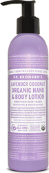 Dr Bronner's Hand and Body Lotions Lavender Coconut 237ml