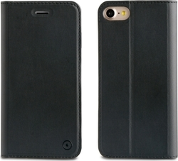 Muvit Leather Stand Book Μαύρο (iPhone 8/7)