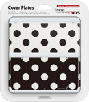 Nintendo Cover Plate 015 Points Black/White New 3DS