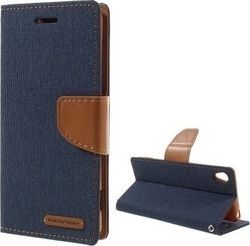Mercury Canvas Diary Navy (Xperia XA)