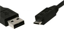 Cablexpert Regular USB 2.0 to micro USB Cable Μαύρο 1.8m (GM-USB0)