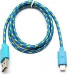 OEM Braided USB to Lightning Cable Blue 1m (V8A)