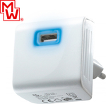 Minwa 1x USB Wall Adapter Λευκό (MWUSB3U-2)