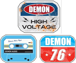 DEMON DIAMONT PLATE SNOWBOARD STOMP PADS - Demon 76