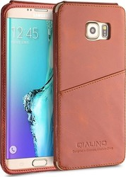Qialino Back Cover Δερμάτινο Καφέ (Galaxy S6 Edge Plus)
