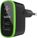 Belkin 2x USB Wall Adapter Μαύρο ( F8M670KRBLK1)