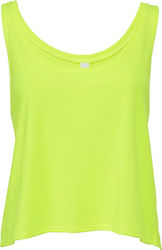 Flowy Boxy Tank Top Bella 8880 - Neon Yellow
