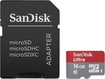 Sandisk microSDHC 16GB U1 with Adapter