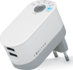 Forever 2x USB Wall Adapter Λευκό (GSM016482)