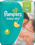 Pampers Baby Dry No 4 (8-16Kg) 44τμχ