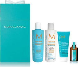 Moroccanoil Volume Christmas Box Volume Shampoo 250ml & Volume Conditioner 250ml & Weightless Hydrating Mask 75ml & Oil Light Treatment 25ml