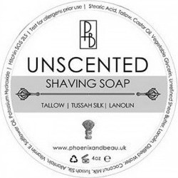 Phoenix And Beau Unscented Tallow Shaving Soap 115gr
