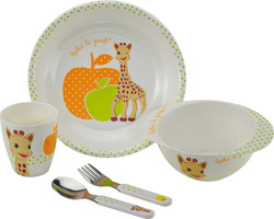 Sophie The Giraffe Sophie La Girafe Melamine Mealtime Set - Orange Green