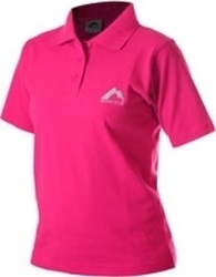 More Mile Short Sleeve Ladies Polo Shirt MMSSPOLOWPNK