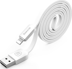 Baseus String Series Flat USB to Lightning Cable Λευκό 1m (762762)