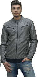 ECO LEATHER JACKET GREY GREY (M0008435.GR)