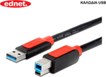 Ednet USB 3.0 Cable USB-A male - USB-B male 1m (84220)