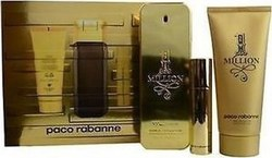 Paco Rabanne One Million Eau de Toilette 100ml & Eau de Toilette 10ml & Shower Gel 100ml