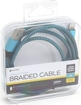 Platinet Braided USB to Lightning Cable Μπλε 1m (PUCFBIP1BL)