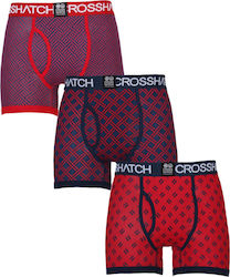 Crosshatch Grillis Printed Boxers M ( CH2T110343-RED )
