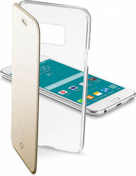 Cellular Line Clear Book Gold (Galaxy S6)
