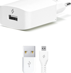 Ttec micro USB Cable & Wall Adapter Λευκό (2SCS01)