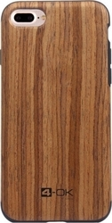 4-OK Flex Back Cover Wood Καφέ (iPhone 8/7)