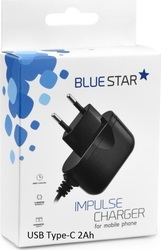 Blue Star USB Type-C Wall Charger Μαύρο (PT_51300)