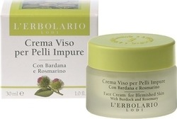 L' Erbolario Night Face Cream for Blemished Oily Skin 30ml