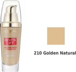 L'Oreal RevitaLift Anti-age Serum+foundation 210 Golden Natural 25ml