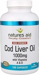 Natures Aid Cod Liver Oil 1000mg 180κάψουλες