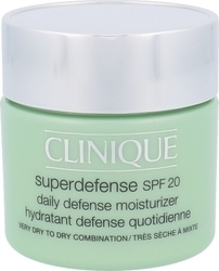 Clinique Superdefense Daily Defense Moisturizer Very Dry Combination Skin SPF20 75ml