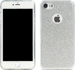 Remax Glitter Back Cover Σιλικόνης Silver (iPhone 8/7)