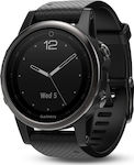 Garmin Fenix 5S Sapphire (Black with Black Band)