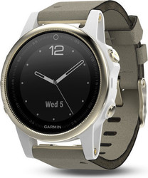 Garmin Fenix 5S (Champagne Sapphire with Gray Suede Band)