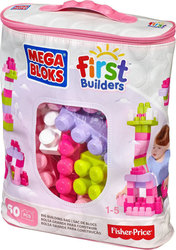 Mega Bloks First Builders: Big Building Bag (Pink) 60τμχ