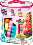 Mega Bloks First Builders: Big Building Bag (Pink) 80τμχ